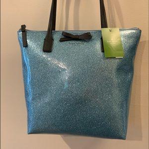 Kate Spade NWT medium hand bag in shimmery blue 😍